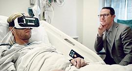 """מוסף שבועי 15.6.17 משכחי הכאבים ד""""ר ברנן ספיגל ומטופל, איור: UCLA"""