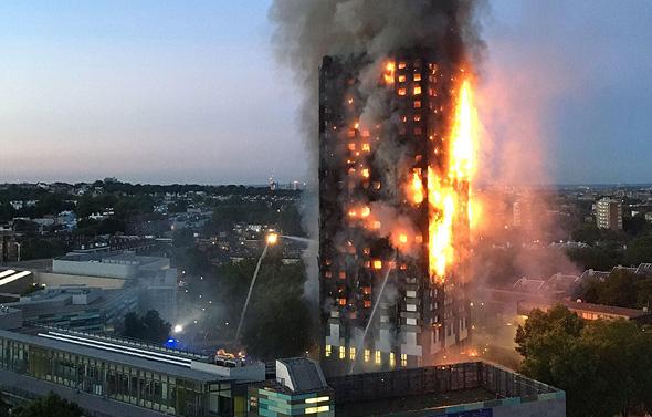 שריפה מגדל לונדון אנגליה, צילום: איי אף פי
