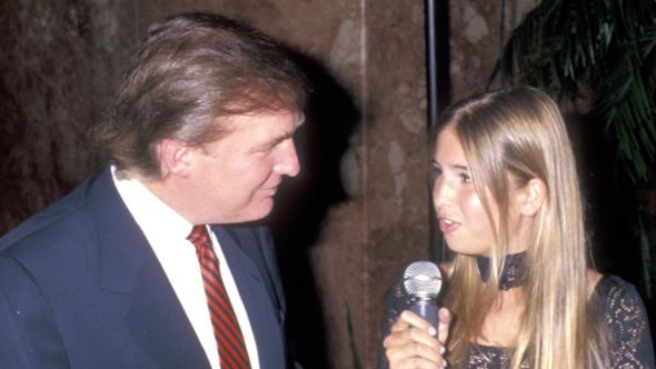 דונלד טראמפ עם איוונקה יום הולדת 50 1996 , צילום: CreditRon Galella/WireImage