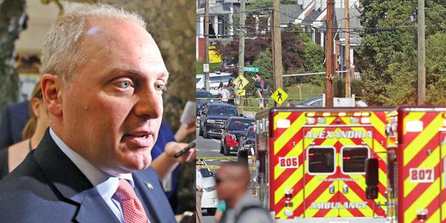 """ארה""""ב: חבר הקונגרס הרפובליקני שנורה יצא מניתוח ומצבו אנוש"""