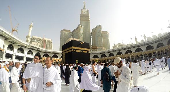 מכה סעודיה מגדל השעון האבן השחורה, צילום: שאטרסטוק
