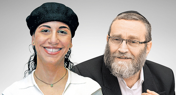 """מימין ח""""כ משה גפני ויועצת ראש הממשלה פרח לרנר, צילום: עומר מסינגר, עמית שאבי"""