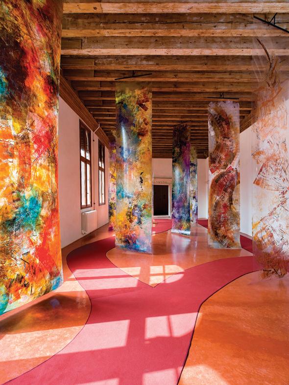 """התערוכה בפאלאצו גרימאני. """"אני רוצה ליצור דיאלוג אמיתי בין המבנה לציורים"""""""
