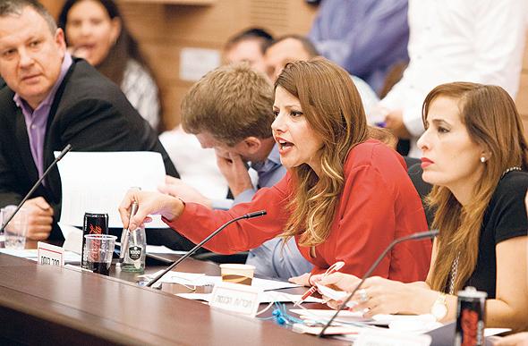 שנייה מימין: אורלי לוי-אבקסיס בוועדת הכספים
