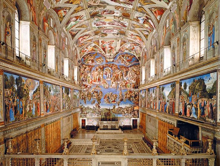 הקפלה הסיסטינית, הוותיקן ברומא , צילום: michelangelorenart
