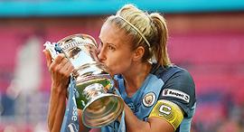סטפני יוטון קפטנית מנצ'סטר סיטי כדורגל נשים גביע אנגלי, צילום: גטי אימג'ס