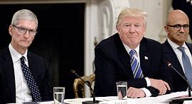 דונלד טראמפ טים קוק סאטיה נאדלה, צילום: אם סי טי
