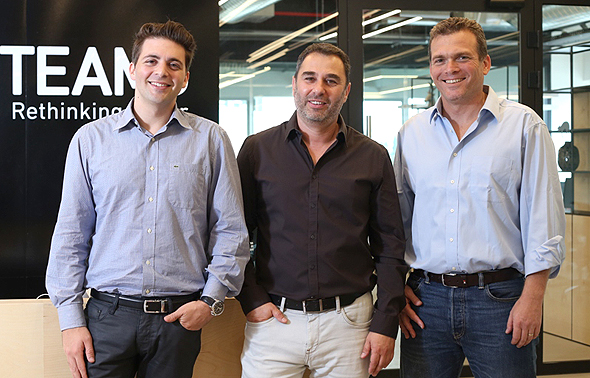 Team8 cofounders Liran Grinberg (left), Israel Grimberg (middle), and Nadav Zafrir (right)
