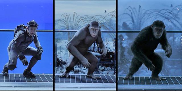 לכידת תנועה: כך הופכים שחקן לקוף, צילום: יוטיוב
