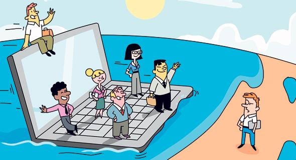 המשק צריך יזמים זרים, איור: ערן מנדל