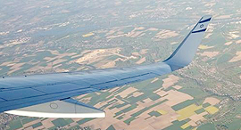 כנף סנפיר מטוס אל על, צילום: ניצן סדן