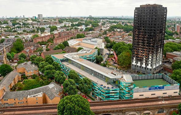 מגדל גרנפל שרוף מערב לונדון, צילום: איי אף פי