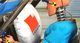 ניסוי בכרית האוויר של טקאטה. ארכיון, צילום: DOT