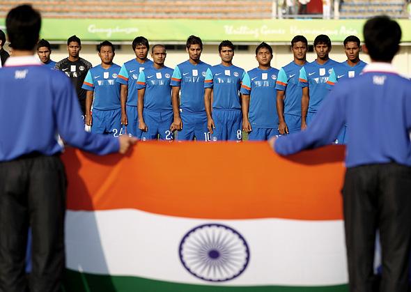 כ־22% מהאוכלוסייה בהודו משחקים כדורגל ברמה כלשהי לפחות פעם בשבוע. המשמעות היא שיותר אנשים משחקים כדורגל במדינה מבמעצמות הכדורגל האירופיות, צילום: גטי אימג
