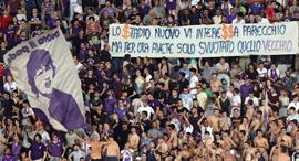 אוהדי פיורנטינה מחאה, צילום: גטי אימג'ס