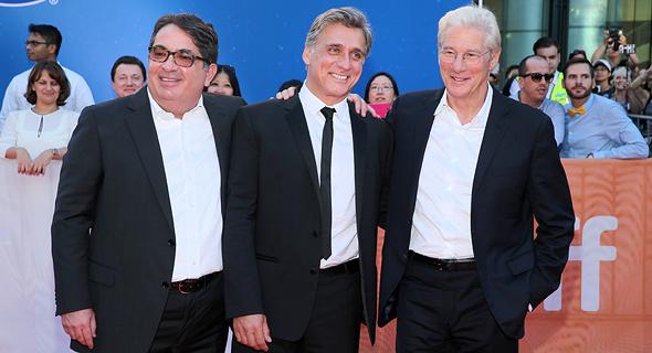 """גיר (מימין), אשכנזי ותדמור בפסטיבל טורונטו. """"וודי אלן משולב באחים כהן"""""""