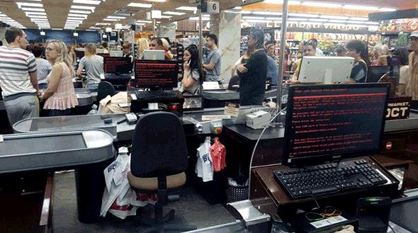 נוזקת Petya.A משתקת מחשבי סופרמרקט באוקראינה
