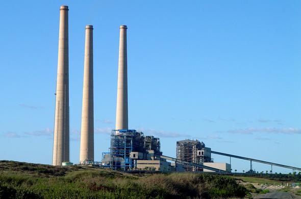 תחנת הכוח בחדרה, צילום: ויקיפדיה