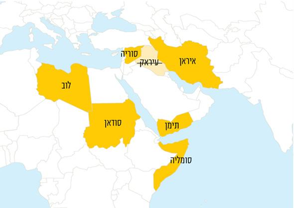 """המדינות לגביהם נקבע קריטריון חדש לבקשות לוויזה לארה""""ב"""