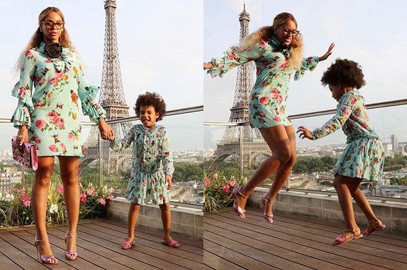 ביונסה עם בתה בלו אייבי בלבוש תואם