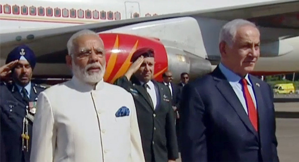 Indian Prime Minister  Narendra Modi and Israeli Prime Minister Benjamin Netanyahu. Photo: Israeli Government Press Office