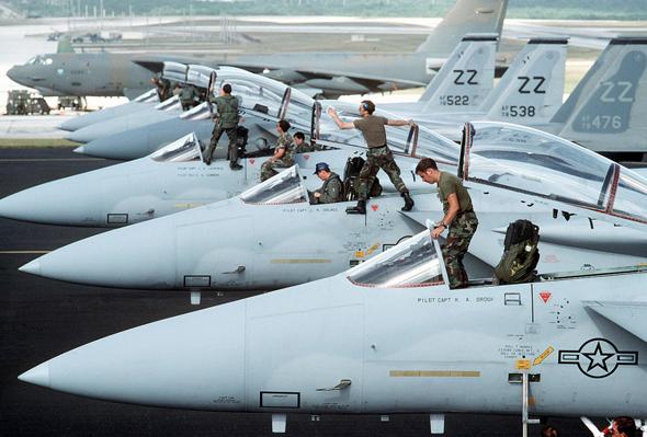 מטוסי F15 של חיל האוויר האמריקאי