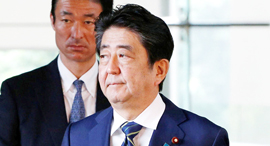 "ר""מ יפן שינזו אבה, צילום: רויטרס"