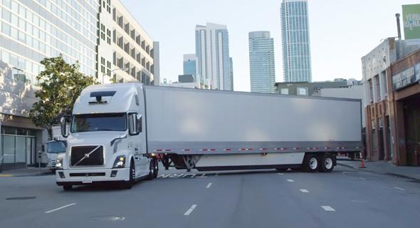 אב טיפוס משאית אוטונומית של אובר, צילום: יוטיוב