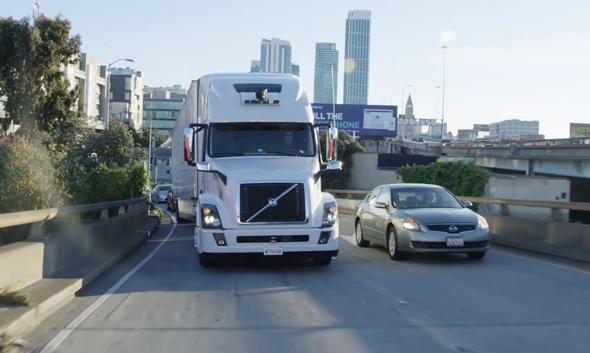 אובר משאית אוטונומית , צילום: יוטיוב