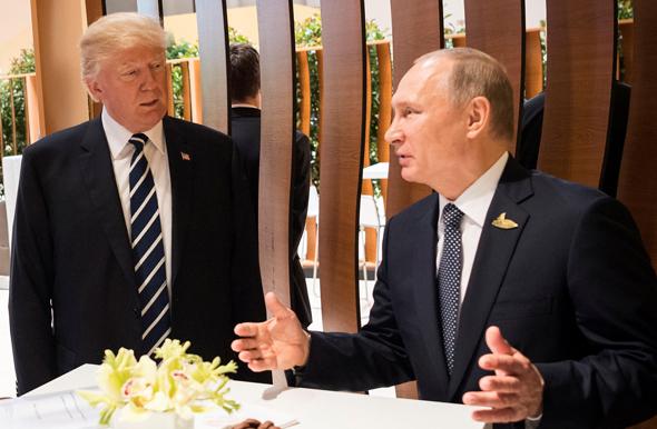 פוטין נפגש עם טראמפ פסגת G20 ב המבורג פוטין נפגש עם טראמפ, צילום: רויטרס