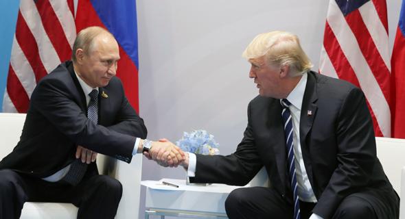 פוטין נפגש עם טראמפ פסגת G20 בהמבורג 2, צילום: אי פי איי
