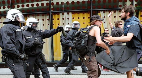 פסגת G20 בהמבורג הפגנות הפגנה, צילום: אי פי איי