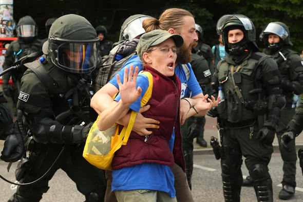 פסגת G20 בהמבורג הפגנות הפגנה, צילום: איי פי
