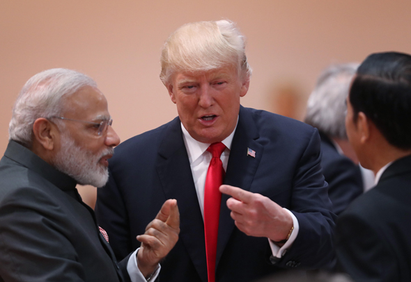 . PhoU.S. President Donald Trump meets with India