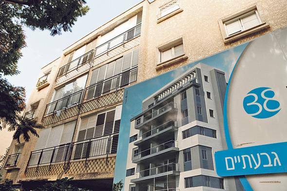 """בניין בגבעתיים לקראת פרויקט תמ""""א 38. השקיפות שומרת על אווירה טובה בין הדיירים"""