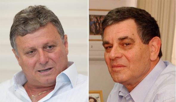 ראשי העירייה לשעבר ישראל סדן (מימין) וחיים אביטן. שחיתות וחשדות להתנהלות לקויה