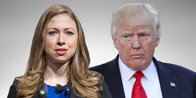 קרב ציוצים: טראמפ תקף את צ'לסי קלינטון בטוויטר והיא לא נשארה חייבת