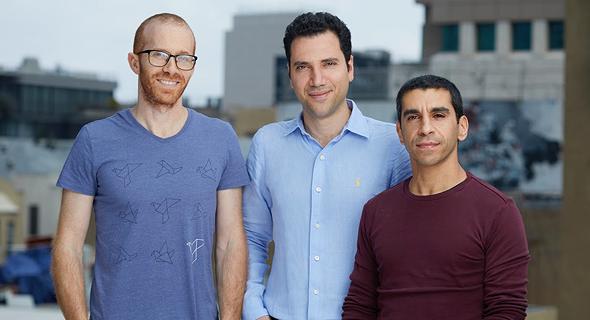 מייסדי החברה. מימין: יובל פורת, אמיר טרבלסי ומשה איינהורן