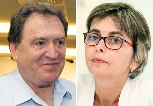 מימין מיכל הלפרין ורוני קוברובסקי