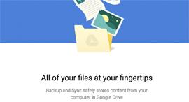 גוגל גיבוי מידע Backup and sync