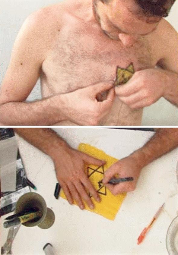 ישראלי תופר על עורו טלאי צהוב