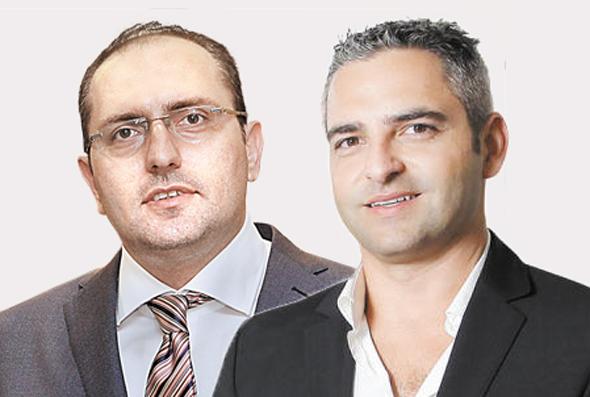 מימין מנור גינדי ו מוטי בן משה, צילומים: עמית שעל , אוראל כהן