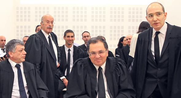 """באי כוח הדירקטורים של דסק""""ש. עורכי הדין גיל אוריון, אהרון מיכאלי, רם כספי ואביתר קנולר"""