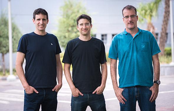 DataRails co-founders Didi Gurfinkel (Left), Eyal Cohen, and Oded Har-Tal. Photo: Idan Sabach