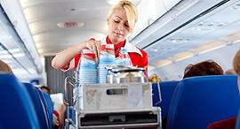 דיילת טיסה משקאות שירות דיאט קולה , צילום: שאטרסטוק