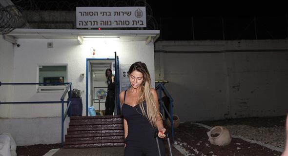 ענבל אור יוצאת ממעצר מ כלא נווה תרצה 2, צילום: טל שחר