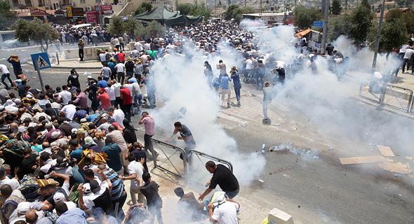 העימותים האלימים בירושלים, היופ, צילום: איי פי