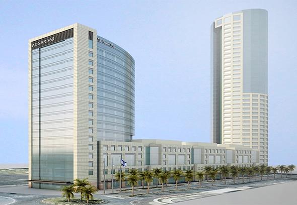 הדמיית מגדל C בפרויקט אדגר 360 בתל אביב
