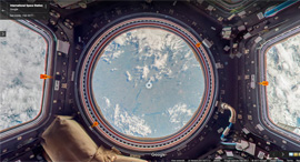מבט מתחנת החלל, צילום: Google Earth