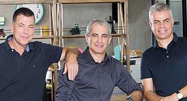 Iguazio. מימין: אסף סומך, ירון חביב וירון שגב, צילום: ינאי יחיאל